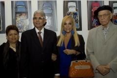 V. A. Tobal Ureña, Ambasciatore Repubblica Dominicana e consorte, S. Irrazábal, Segretario Culturale IILA e L. Bosch, Addetto Culturale Ambasciata Repubblica Dominicana
